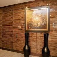 яркий дизайн квартиры со стеновыми панелями фото
