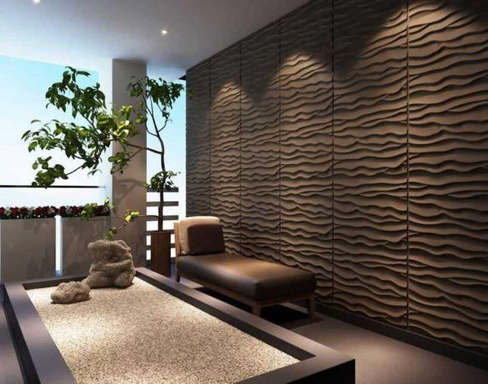 светлый дизайн квартиры со стеновыми панелями