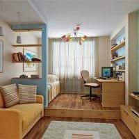 светлый декор спальни гостиной фото