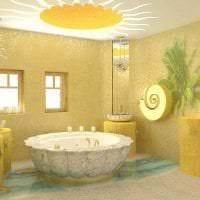 яркий интерьер квартиры в горчичном цвете картинка