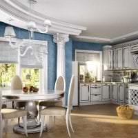 необычный стиль комнаты в греческом стиле картинка