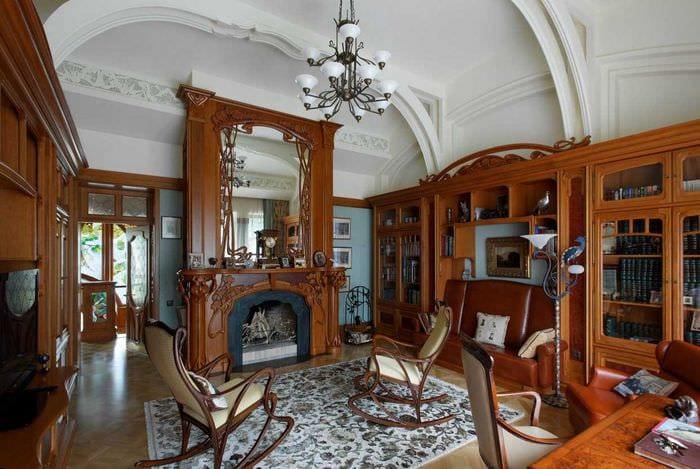 яркий дизайн гостиной в стиле модерн