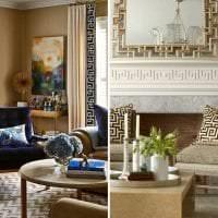красивый дизайн квартиры в греческом стиле фото