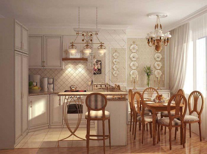 светлый декор квартиры в стиле прованс