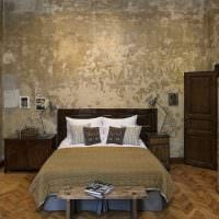 яркий дизайн квартиры со старыми досками фото