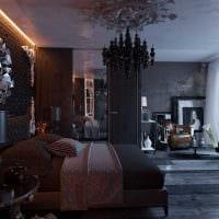 современный интерьер комнаты в готическом стиле фото