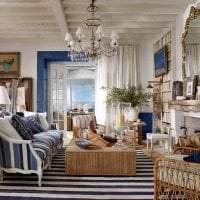 яркий стиль комнаты в греческом стиле фото