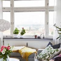 яркий дизайн гостиной в весеннем стиле картинка