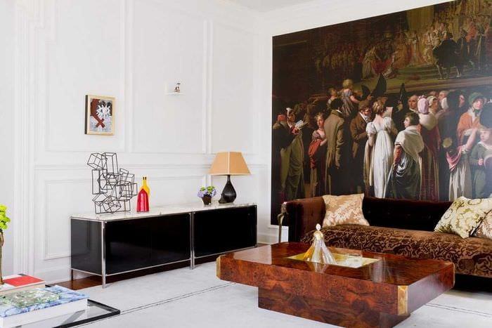 оригинальный дизайн комнаты со стеновыми панелями