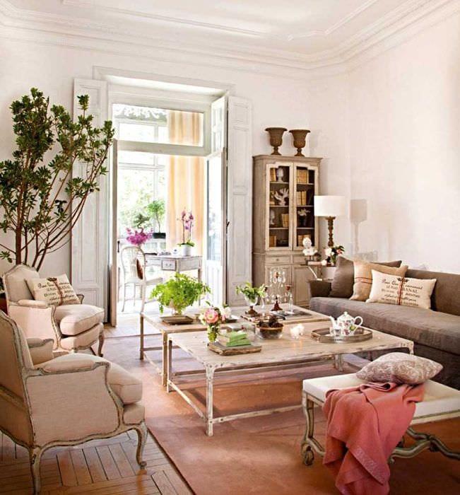 красивый стиль квартиры в винтажном стиле