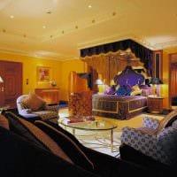 красивый интерьер гостиной в восточном стиле фото