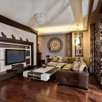 необычный стиль гостиной в восточном стиле картинка