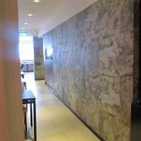 необычный гибкий камень в дизайне квартиры картинка