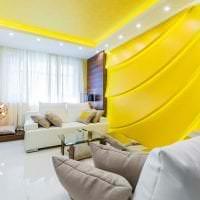 необычный интерьер квартиры в горчичном цвете картинка
