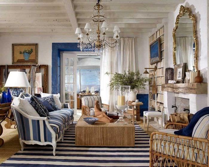 красивый декор комнаты в средиземноморском стиле