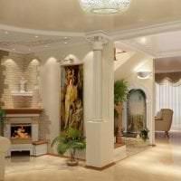 красивый дизайн гостиной в греческом стиле картинка