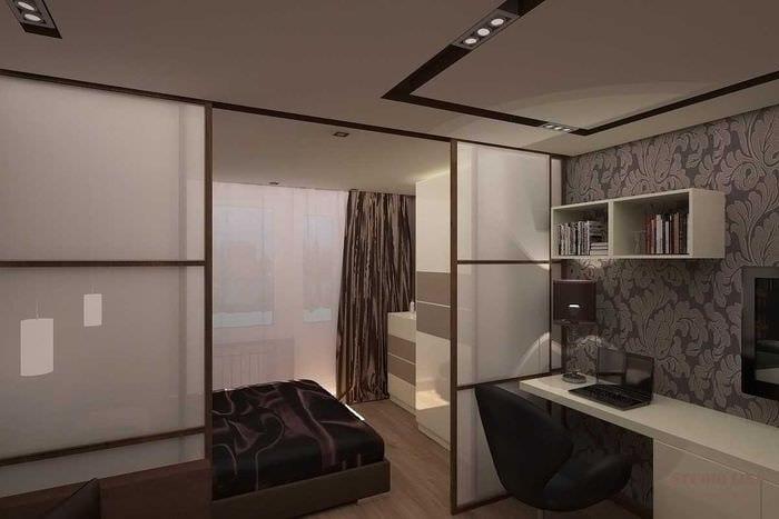 светлый стиль гостиной спальни