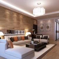 светлый интерьер спальни в стиле модерн фото