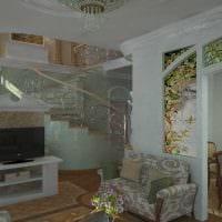 светлый дизайн гостиной в стиле модерн фото
