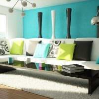 красивый стиль спальни в голубом цвете фото