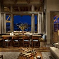 яркий интерьер комнаты в стиле рустик фото