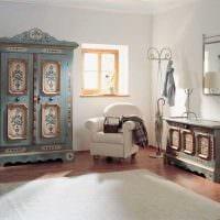 необычный интерьер комнаты в винтажном стиле фото