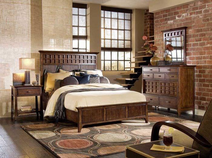 современный дизайн спальни в винтажном стиле
