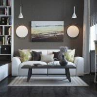 красивый дизайн спальни гостиной картинка