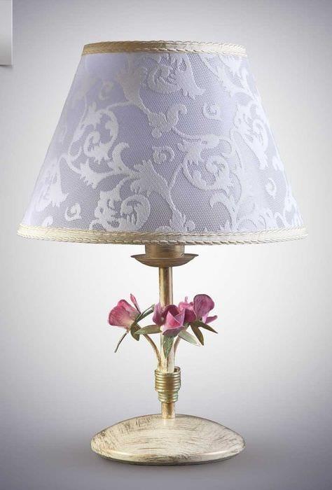 необычное оформление абажура лампы своими руками