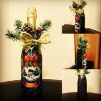 оригинальное украшение бутылок для интерьера комнаты фото