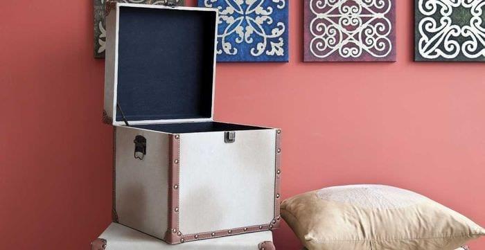 необычное декорирование коробок для хранения своими руками