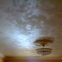 красивое оформление потолка аксессуарами фото