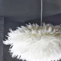 яркое оформление абажура лампы подручными материалами фото