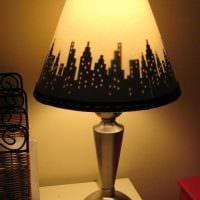 оригинальное украшение абажура лампы своими руками картинка