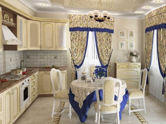 красивое оформление дизайна комнаты в стиле прованс