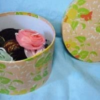 красивое декорирование коробок для хранения подручными материалами фото