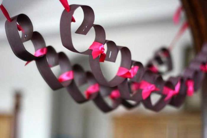 необычное декорирование комнаты подручными материалами на день святого валентина