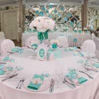 современное оформление свадебного зала шариками фото