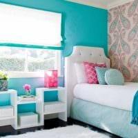 вариант цветной декора комнаты для девочки фото