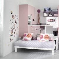 вариант красивого дизайна спальни для девочки картинка