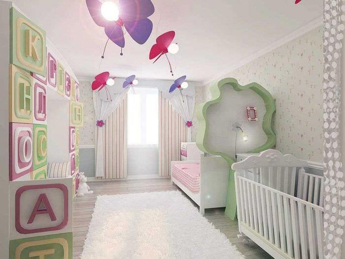 идея красивого интерьера спальни для девочки