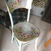 идея состаривания стола подручными материалами фото