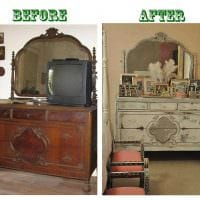 вариант декорирования шкафа подручными материалами фото