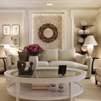 идея оригинального дизайна гостиной комнаты 17 кв.метров фото
