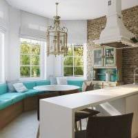 идея красивого декора кухни в деревенском стиле фото