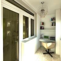 идея современного интерьера маленького балкона фото