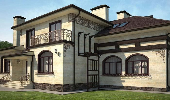 Фото дизайна отделки фасадов домов