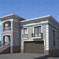 идея красивого фасада загородного дома фото