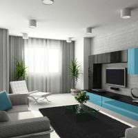 идея красивого декорирования интерьера гостиной фото