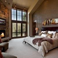 вариант красивого декорирования дизайна спальной комнаты фото